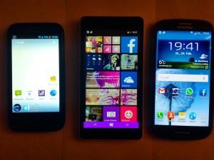 Smartphones klein